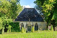 France, Indre-et-Loire (37), Montlouis-sur-Loire, jardins du château de la Bourdaisière, la chapelle