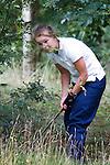 DEN DOLDER - Karlijn Zaanen tijdens het NK Strokeplay golf op Golfsocieteit  De Lage Vuursche. COPYRIGHT KOEN SUYK
