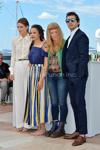 Riley Keough, Shia Labeouf, Andrea Arnold and Shia Labeour at the Photocall &acute;American Honey` - 69th Cannes Film Festival on May 15, 2016 in Cannes, France.<br /> CAP/LAF<br /> &copy;Lafitte/Capital Pictures /MediaPunch ***NORTH AND SOUTH AMERICA ONLY***