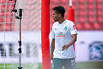 Auswechslung wegen veretzung Theodor Gebre Selassie (Werder Bremen #23), enttäuscht / enttaeuscht / traurig  Verletzung / verletzt / Schmerzen<br /> <br /> <br /> Sport: nphgm001: Fussball: 1. Bundesliga: Saison 19/20: 33. Spieltag: 1. FSV Mainz 05 vs SV Werder Bremen 20.06.2020<br /> <br /> Foto: gumzmedia/nordphoto/POOL <br /> <br /> DFL regulations prohibit any use of photographs as image sequences and/or quasi-video.<br /> EDITORIAL USE ONLY<br /> National and international News-Agencies OUT.