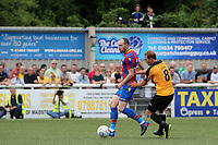 Jordon Mutch of Crystal Palace shields the ball from Maidstone's Stuart Lewis during Maidstone United  vs Crystal Palace, Friendly Match Football at the Gallagher Stadium on 15th July 2017