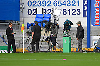 TV studio with the Carabao Cupduring Portsmouth vs Birmingham City, Caraboa Cup Football at Fratton Park on 6th August 2019