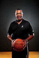 Dec. 16, 2011; Phoenix, AZ, USA; Phoenix Suns head coach Alvin Gentry poses for a portrait during media day at the US Airways Center. Mandatory Credit: Mark J. Rebilas-