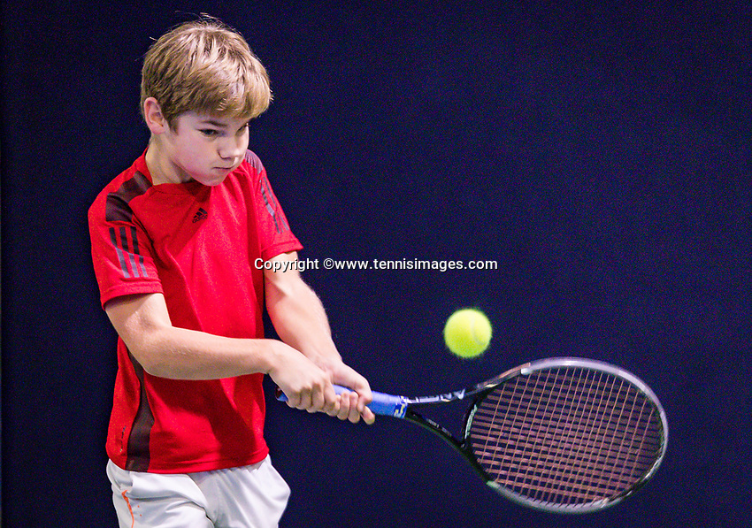 Hilversum, Netherlands, December 2, 2018, Winter Youth Circuit Masters, Teun Mantel (NED)<br /> Photo: Tennisimages/Henk Koster
