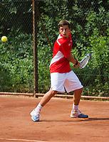 05-08-13, Netherlands, Dordrecht,  TV Desh, Tennis, NJK, National Junior Tennis Championships, Jordy Visser<br /> <br /> <br /> Photo: Henk Koster
