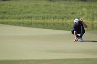 Ross Fisher (ENG) on the 14th green during the final round of the DP World Tour Championship, Jumeirah Golf Estates, Dubai, United Arab Emirates. 18/11/2018<br /> Picture: Golffile | Fran Caffrey<br /> <br /> <br /> All photo usage must carry mandatory copyright credit (© Golffile | Fran Caffrey)