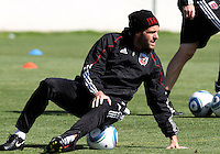 Ben Olsen, head coach of D.C. United during a training session in Hapgood Stadium on the campus of the Citadel,on March 11 2011, in Charleston, South Carolina