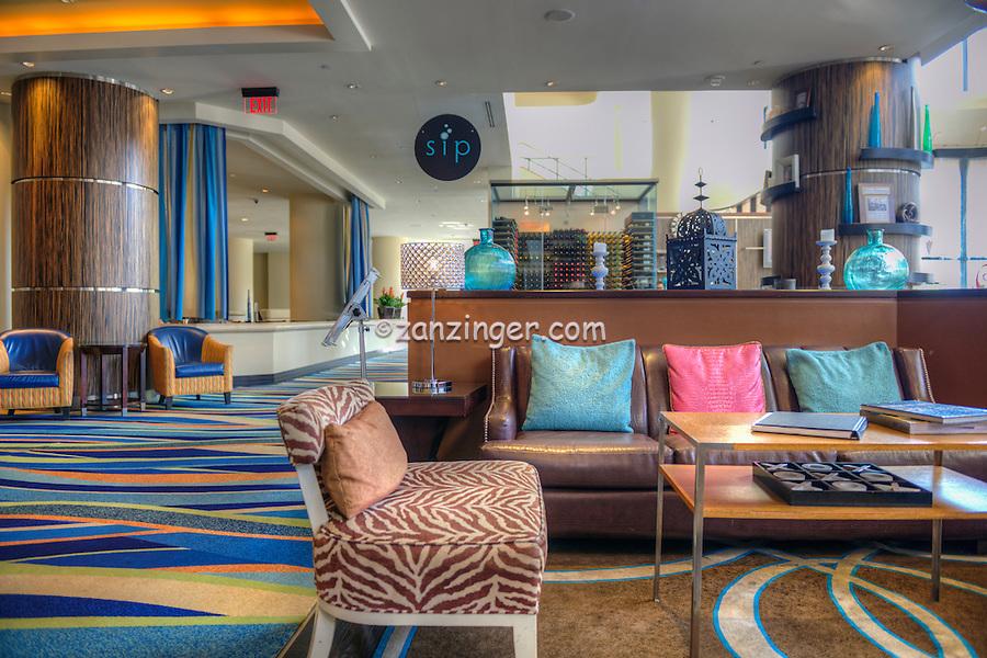 Renaissance Long Beach Hotel. entertainment district, downtown Long Beach, CA