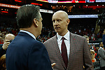 Kentucky Wildcats head coach John Calipari and Louisville Cardinals head coach Chris Mack before their game at the KFC Yum Center on Saturday Dec. 29, 2018 in Louisville, Ky.