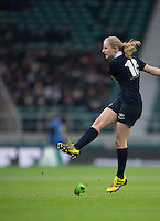Twickenham, United Kingdom. Catherine MAY WILCOCK, with the penalty points for the only points in the game.  3-0 the Oxford, during the  2016 Women's Varsity Rugby, [Oxford vs Cambridge], Twickenham. UK, at the RFU Stadium, Twickenham, England, <br /> <br /> Thursday  08/12/2016<br /> <br /> [Mandatory Credit; Peter Spurrier/Intersport-images]