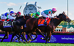 November 3, 2018: Expert Eye #7, ridden by Frankie Dettori, wins the Breeders' Cup Mile on Breeders' Cup World Championship Saturday at Churchill Downs on November 3, 2018 in Louisville, Kentucky. Jessica Morgan/Eclipse Sportswire/CSM