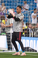 Uefa Champions League football match Real Madrid vs AS Roma at the Santiago Bernabeu stadium in Madrid on September 19, 2018.<br /> <br /> Keylor Navas