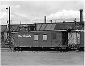 D&amp;RGW long caboose #0503 sotred in Alamosa.<br /> D&amp;RGW  Alamosa, CO  Taken by Payne, Andy M. - 6/3/1969