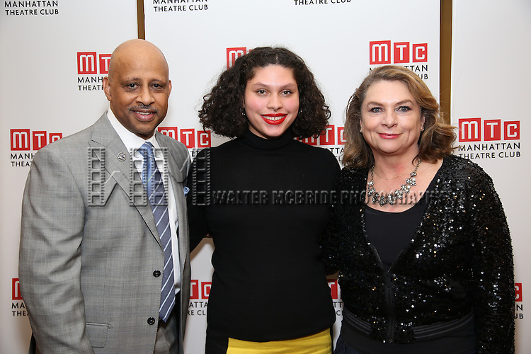 Ruben Santiago-Hudson, Azula Carmen Wilson and Constanza Romero attend August Wilson's 'Jitney' Broadway opening night after party at Copacabana on January 19, 2017 in New York City.