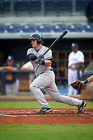 Tampa Yankees catcher Wes Wilson (69) follows through on a swing during the first game of a doubleheader against the Charlotte Stone Crabs on July 18, 2017 at Charlotte Sports Park in Port Charlotte, Florida.  Charlotte defeated Tampa 7-0 in a game that was originally started on June 29th but called to inclement weather.  (Mike Janes/Four Seam Images)