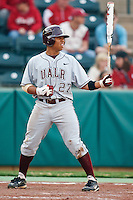 Bobby Klein (27) at bat during the NCAA matchup between the University of Arkansas-Little Rock Trojans and the University of Oklahoma Sooners at L. Dale Mitchell Park in Norman, Oklahoma; March 11th, 2011.  Oklahoma won 11-3.  Photo by William Purnell/Four Seam Images