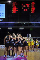 The Silver ferns huddle after losing the Constellation Cup Series international netball match and series between the New Zealand Silver Ferns and Samsung Australian Diamonds at TSB Bank Arena in Wellington, New Zealand on Thursday, 18 October 2018. Photo: Dave Lintott / lintottphoto.co.nz