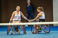 Alphen aan den Rijn, Netherlands, December 18, 2019, TV Nieuwe Sloot,  NK Tennis, Wheelchair womans doubles: Marjolein Buis (NED) and Michaela Spaanstra (NED) (L)<br /> Photo: www.tennisimages.com/Henk Koster