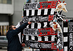 Merchandise sellers set up their stalls before the FA Cup match at the Pride Park Stadium, Derby. Picture date: 5th March 2020. Picture credit should read: Darren Staples/Sportimage