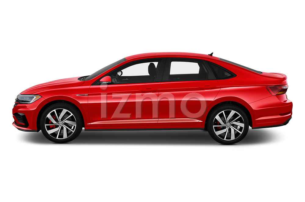 Car driver side profile view of a 2019 Volkswagen Jetta GLI-S 4 Door Sedan