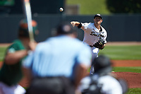 Wake Forest Demon Deacons starting pitcher Parker Dunshee (36) delivers a pitch to the plate against the Miami Hurricanes in Game Nine of the 2017 ACC Baseball Championship at Louisville Slugger Field on May 26, 2017 in Louisville, Kentucky. The Hurricanes defeated the Demon Deacons 5-2. (Brian Westerholt/Four Seam Images)