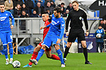 30.11.2019, PreZero-Arena, Sinsheim, GER, 1. FBL, TSG 1899 Hoffenheim vs. Fortuna Duesseldorf, <br /> <br /> DFL REGULATIONS PROHIBIT ANY USE OF PHOTOGRAPHS AS IMAGE SEQUENCES AND/OR QUASI-VIDEO.<br /> <br /> im Bild: Florian Grillitsch (TSG 1899 Hoffenheim #11) gegen Alfredo Morales (#6, Fortuna Duesseldorf)<br /> <br /> Foto © nordphoto / Fabisch