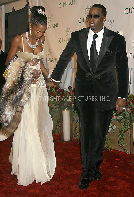 WWW.ACEPIXS.COM . . . . .NO UK SALES!!!....NEW YORK, NOVEMBER 5, 2004....Sean P. Diddy Combs and Kim Porter attend P.Diddy's 35th birthday bash at Cipriani.....Please byline: ACE005 - ACE PICTURES.   .. *** ***  ..Ace Pictures, Inc  **  ..Alecsey Boldeskul (646) 267-6913 **..Philip Vaughan (646) 769-0430 **..e-mail: info@acepixs.com..web: http://www.acepixs.com