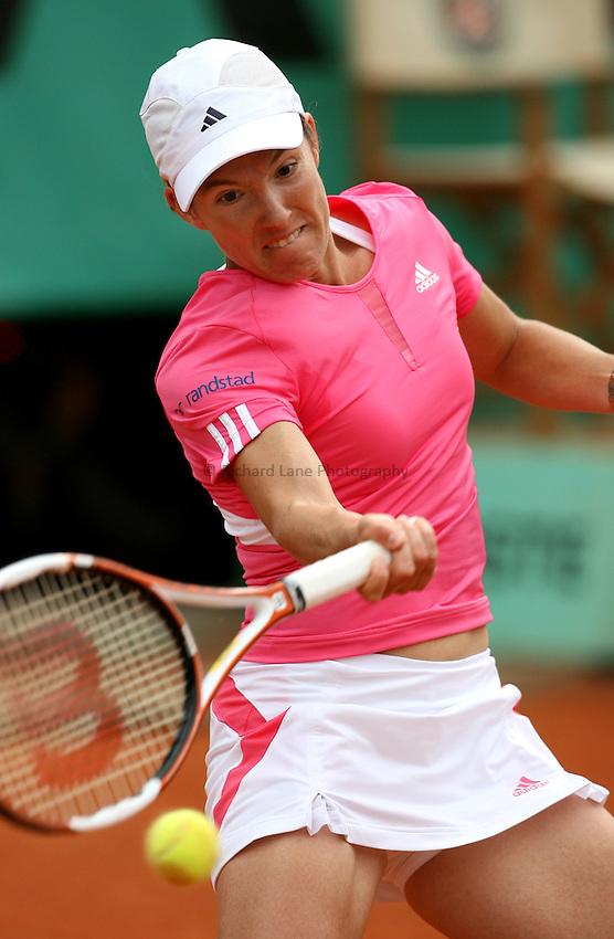 Photo: Maarten Straetemans..French Open, Roland Garros 2007. 30/05/2007..Justine Henin during her 3rd round win.