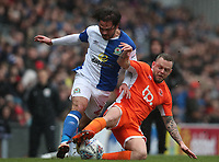 Blackburn Rovers' Bradley Dack and Blackpool's Jay Spearing<br /> <br /> Photographer Rachel Holborn/CameraSport<br /> <br /> The EFL Sky Bet League One - Blackburn Rovers v Blackpool - Saturday 10th March 2018 - Ewood Park - Blackburn<br /> <br /> World Copyright &copy; 2018 CameraSport. All rights reserved. 43 Linden Ave. Countesthorpe. Leicester. England. LE8 5PG - Tel: +44 (0) 116 277 4147 - admin@camerasport.com - www.camerasport.com