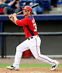10 March 2011: Washington Nationals' outfielder Bryce Harper at bat during a Spring Training game against the New York Mets at Space Coast Stadium in Viera, Florida. The Nationals edged out the Mets 6-5 in Grapefruit League play. Mandatory Credit: Ed Wolfstein Photo