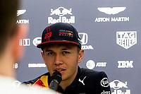 12th March 2020; Melbourne Grand Prix Circuit, Melbourne, Victoria, Australia; Formula One, Australian Grand Prix, Practice Day; Aston Martin Red Bull driver Alexander Albon