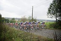peloton over the belgian cobbles<br /> <br /> stage 1<br /> Euro Metropole Tour 2014 (former Franco-Belge)