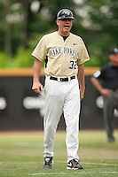 Wake Forest head coach Tom Walter during the 2010 season.  Photo by Brian Westerholt / Four Seam Images