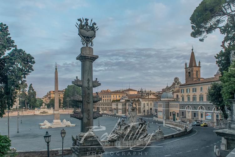 Europe, Italy, Rome, Piazza Popolo