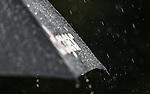 Rain causes a during the Barfoot and Thompson Charles Tour, Akarana Open, Akarana Golf Club, Auckland, Sunday 17  April 2016. Photo: Simon Watts/www.bwmedia.co.nz