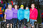 Johnny Conway, Mary Ross, Ann and Laura O'Mahoney, Agnes Godley and Martina McDonald at the fourth anniversary of the Tralee Park Run in the the Town Park on Saturday morning.