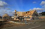 New detached house under construction, Hollesley, Suffolk, Suffolk, England, UK