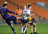 04/12/2018 FA Youth Cup 3rd Round Blackpool v Derby County<br /> <br /> Bradley Foster-Theniger clears for Derby