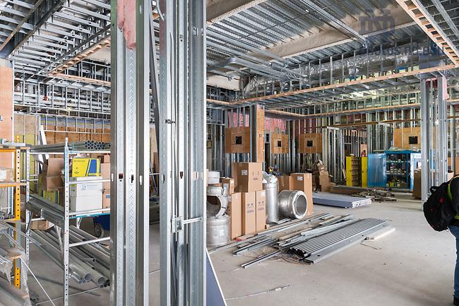March 8, 2017; O'Neill Hall 4th floor under construction (Photo by Matt Cashore/University of Notre Dame)