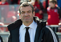 30 March 2013: Toronto FC head coach Ryan Nelsen during an MLS game between the LA Galaxy and Toronto FC at BMO Field in Toronto, Ontario Canada..The game ended in a 2-2 draw..