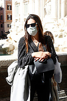 Rome February 27th 2020. Tourists wearing masks around Trevi Fountains.<br /> Photo Samantha Zucchi Insidefoto