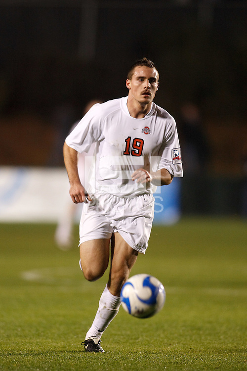 Ohio State Buckeyes forward Eric Edwards (19) during an NCAA College Cup semi-final match at SAS Stadium in Cary, NC on December 14, 2007. Ohio State defeated Massachusetts 1-0.