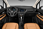 Stock photo of straight dashboard view of 2019 Buick Encore Premium 5 Door Suv Dashboard