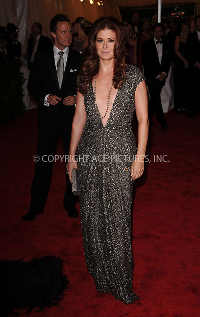 WWW.ACEPIXS.COM . . . . . ....May 7 2012, New York City....Debra Messing arriving at the 'Schiaparelli And Prada: Impossible Conversations' Costume Institute Gala at the Metropolitan Museum of Art on May 7, 2012 in New York City.....Please byline: KRISTIN CALLAHAN - ACEPIXS.COM.. . . . . . ..Ace Pictures, Inc:  ..(212) 243-8787 or (646) 679 0430..e-mail: picturedesk@acepixs.com..web: http://www.acepixs.com