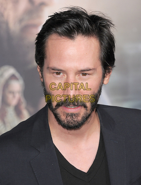 Keanu Reeves.The L.A. Premiere of 'Cloud Atlas' held at The Grauman's Chinese Theatre in Hollywood, California, USA..October 24th, 2012 .headshot portrait beard facial hair black   .CAP/RKE/DVS.©DVS/RockinExposures/Capital Pictures.