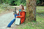 """REPRO FREE: UCC genetics student and poet, Mairead O""""Sullivan from Lissivigeen, Killarney winner of the open poetry competition in 2012 pictured in the Hugh O'Flaherty Memorial Plantation at Muckross Arboretum this week for the launch of this years O'Flaherty Art & Literary Competitions. Closing date for entries is September 20th and further information on www.hughoflaherty.com .Picture by Don MacMonagle..REPRO free photo..INFO:.The 6th Hugh O'Flaherty Memorial Week will take place in Killarney between Sunday October 27th and Sunday November 3rd 2013.The Hugh O'Flaherty Memorial Society has three elements to its Mission Statement - the third one of these is:Through the Annual Hugh O'Flaherty Memorial Weekend we will ensure the continuous promotion of the inspirational story of the Monsignor, through various art forms i.e., Drama, Literature, Film and Art, etc..For the past three years and again this year, the Memorial Weekend Programme will include a dramatic performance related to the event.  As in the 2012 Memorial Weekend, the Society is again going to extend further into its Mission Statement and include Literature and Visual Art."""