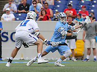 Annapolis, MD - May 20, 2018: Johns Hopkins Blue Jays Alex Concannon (2) attempts a shot during the quarterfinal game between Duke vs John Hopkins at  Navy-Marine Corps Memorial Stadium in Annapolis, MD.   (Photo by Elliott Brown/Media Images International)