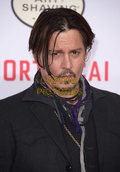 Johnny Depp attends The Mortdecai Los Angeles Premiere held at The TCL Chinese Theater  in Hollywood, California on January 21,2015                                                                               <br /> CAP/DVS<br /> &copy;DVS/Capital Pictures