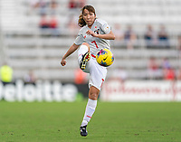 ORLANDO, FL - MARCH 05: Emi Nakajima #7 passes the ball during a game between Spain and Japan at Exploria Stadium on March 05, 2020 in Orlando, Florida.