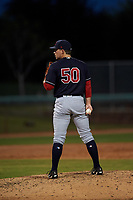 AZL Indians Blue relief pitcher Jared Janczak (50) during an Arizona League game against the AZL White Sox on July 2, 2019 at Camelback Ranch in Glendale, Arizona. The AZL Indians Blue defeated the AZL White Sox 10-8. (Zachary Lucy/Four Seam Images)